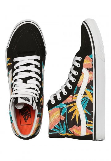 28503459ae Vans - Sk8-Hi Slim Tropical Leaves Black - Girl Shoes - Impericon.com  Worldwide