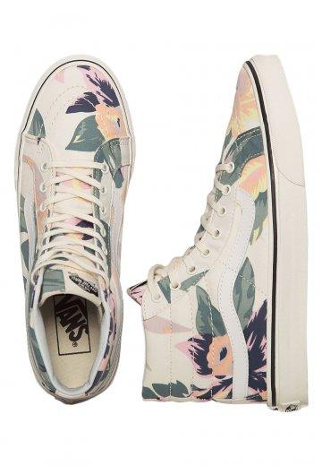 Vans - SK8‐Hi Slim Vintage Floral Marshmallow - Girl Shoes - Impericon.com  Worldwide a3b8b3f36
