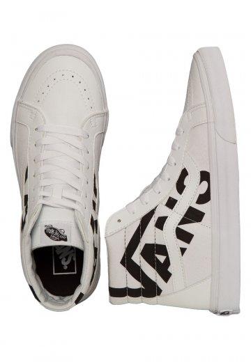 21b69285697e81 Vans - Sk8-Hi Vans True White Black - Girl Shoes - Impericon.com UK