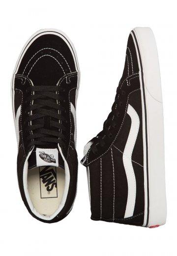 Vans Sk8 Mid Reissue BlackTrue White Girl Shoes