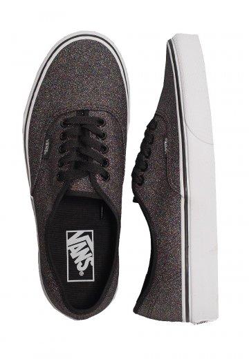 all black glitter vans