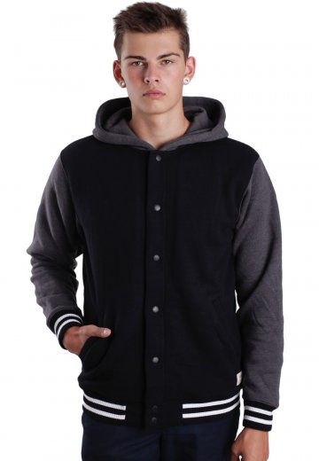 6f239eff78 Vans - University II Sherpa Black New Charcoal Heather - Hooded College  Jacket - Impericon.com US