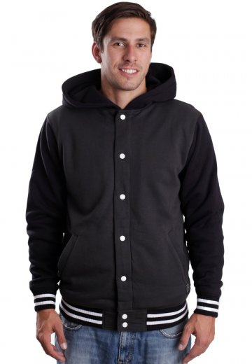 89a2528882 Vans - University II Sherpa New Charcoal Black - Hooded College Jacket -  Impericon.com UK