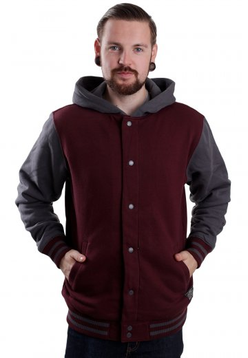 2752856157 Vans - University II Sherpa Port Royale Gravel - Hooded College Jacket ...