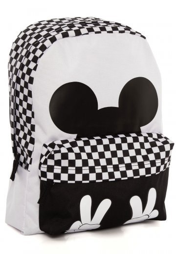 0e99c4a7aba41 Vans x Disney - Checkerboard Mickey Realm White Black - Backpack -  Impericon.com UK
