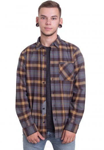 Volcom Plaid Overhemd Shop Caden Streetwear Ls Espresso orhdCxBtsQ
