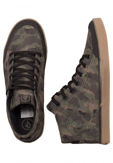 b00f0696 Volcom - HI FI Dark Camo - Shoes - Streetwear Shop - Impericon.com Worldwide