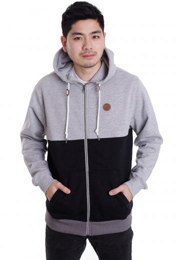 fb92b9cdc17fc Volcom - Single Stone Clear Black Heather Grey - Zipper - Streetwear Shop -  Impericon.com AU