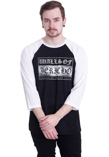 Walls Of Jericho - Block Logo Black/White - Longsleeve