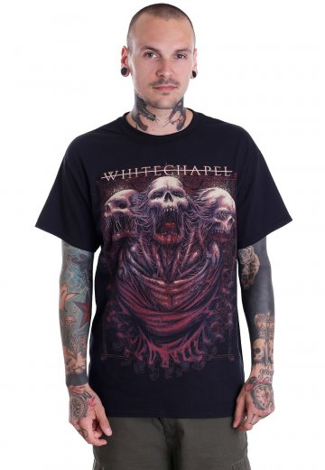 Whitechapel - Three Skulls - T-Shirt