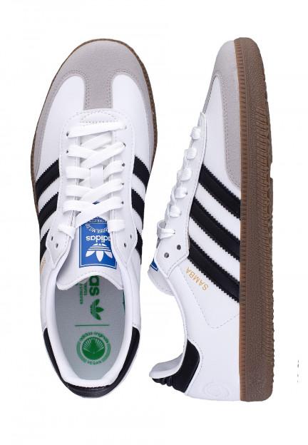 Adidas - Samba Vegan FTW White/Core Black/Gum - Shoes - Impericon ...