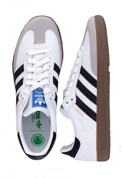 Adidas - Samba Vegan FTW White/Core Black/Gum - Girl Shoes ...