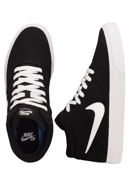 Nike - SB Charge Mid Canvas Black/White/Black/White - Shoes ...
