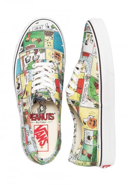Vans X Peanuts - Authentic Peanuts Comics Black/True White - Girl ...