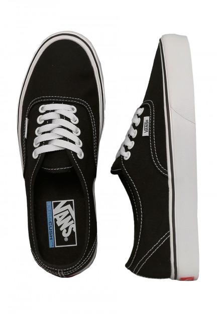 Vans - Authentic Lite Canvas Black/White - Girl Shoes - Impericon ...
