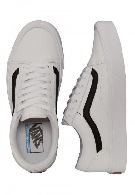 Vans - Old Skool Lite Classic Tumble True White/Black - Girl Shoes ...