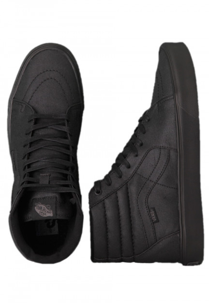 Vans - Sk8-Hi Lite Black Waxed Canvas - Girl Shoes - Impericon.com ...