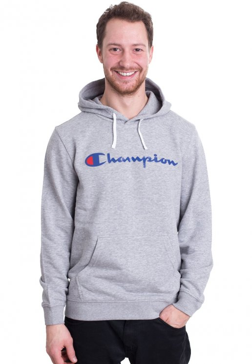 dd40eeb3bbe7 Champion - Hooded Grey Melange Light - Huvtröja - Streetwear Shop -  Impericon.com SE