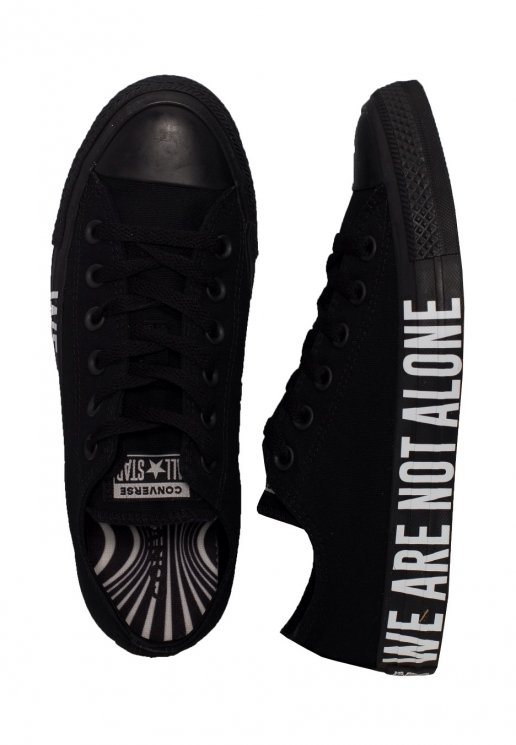 Converse Chuck Taylor All Star Ox We Are Not Alone BlackWhiteBlack Girl Shoes