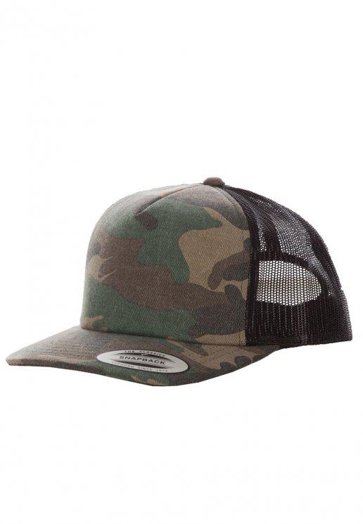 dabfb50eca0 Flexfit - Camo Trucker Woodcamo Black - Cap - Streetwear Shop - Impericon.com  AU