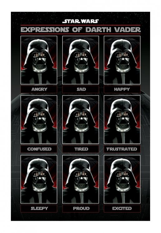 Star Wars - Expressions Of Darth Vader - Poster - Impericon.com ...