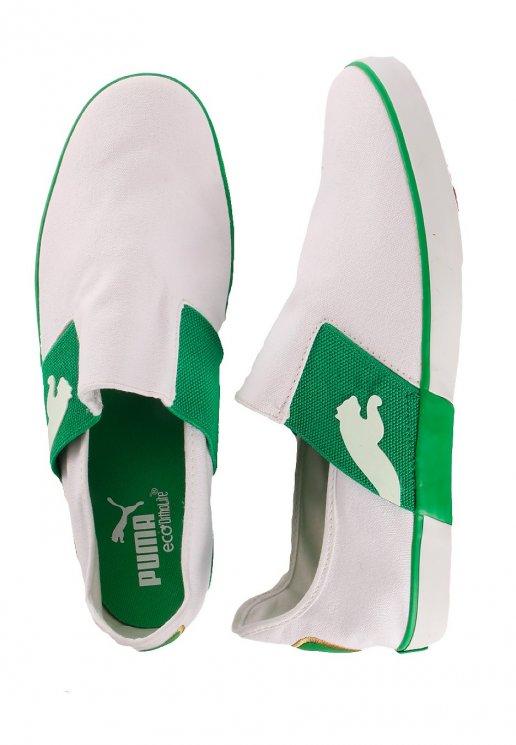Puma - Lazy Slip-On White/Fern Green