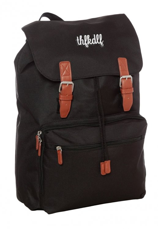 b95aa6e07fb7 THFKDLF - Embroidered Patch Black Brown - Backpack - Streetwear Shop -  Impericon.com US