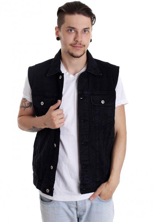 marque célèbre magasin officiel bon service Urban Classics - Denim Black Dark - Jeans Vest
