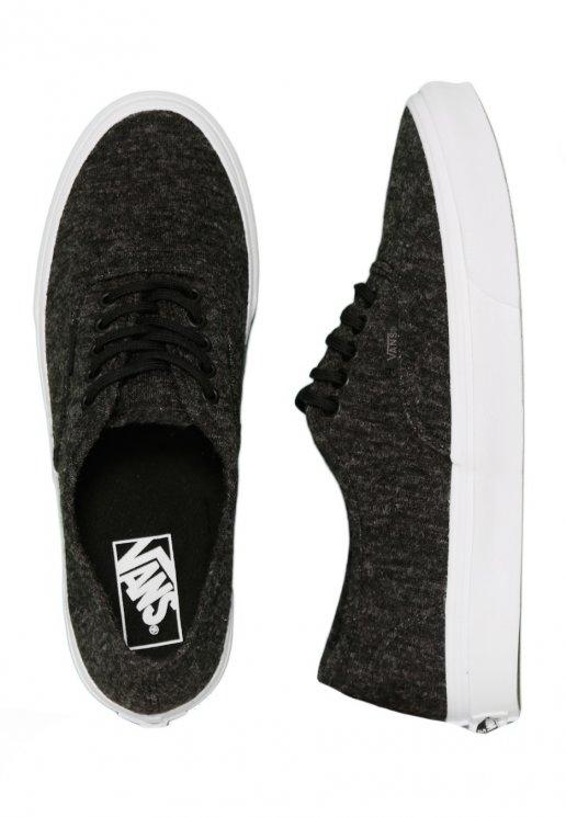 5cf6b28e127 Vans - Authentic Slim Jersey Black True White - Girl Shoes - Impericon.com  US