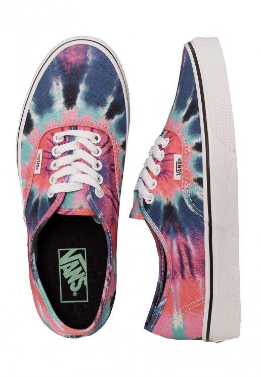Vans Authentic Tie Dye MultiTrue White Girl Shoes