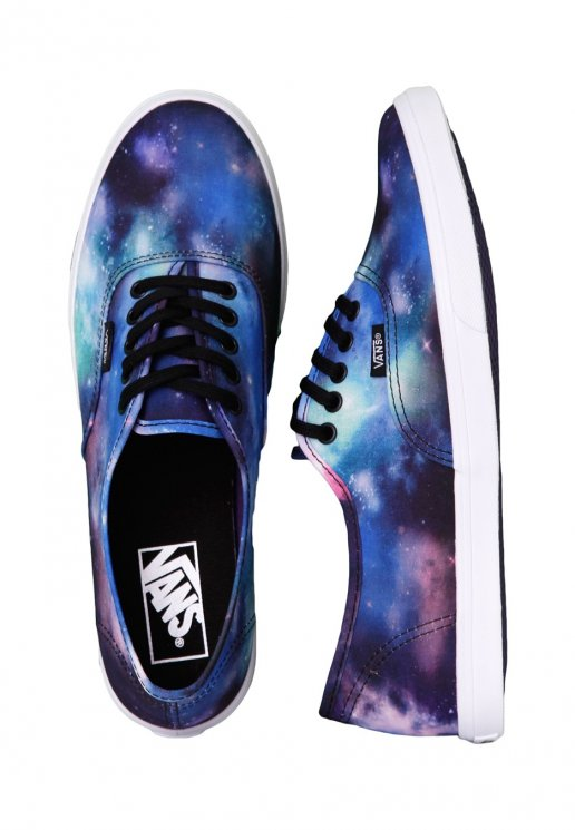 67149ed75ec8 Vans - Authentic Lo Pro Cosmic Galaxy Black True White - Girl Shoes -  Impericon.com US