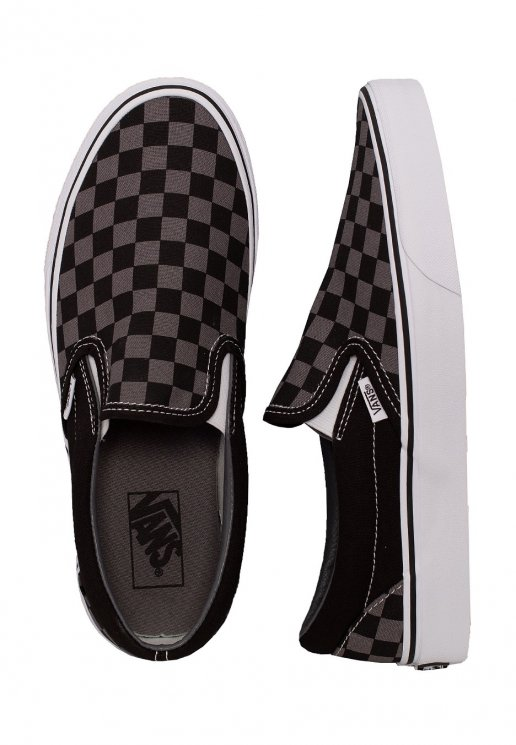 Vans Classic Slip On BlackPewter Checkerboard Shoes