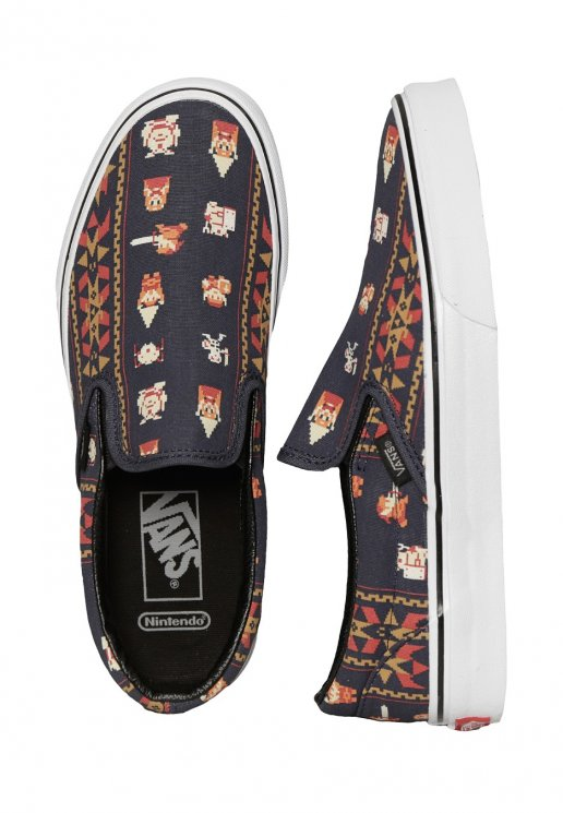 vans x nintendo - classic slip-on nintendo zelda/parisian night