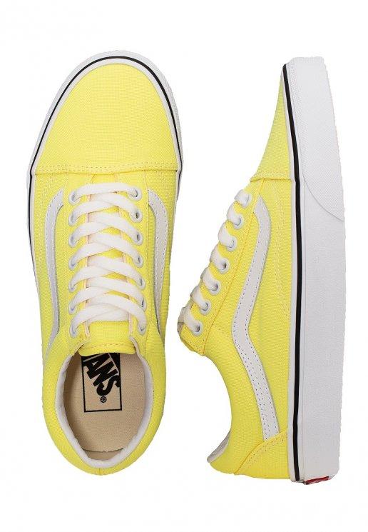 Vans Old Skool (Neon) Lemon TonicTrue White Girl Shoes