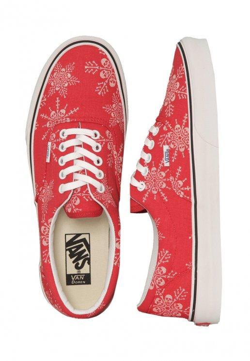 6a6301b15d82 Vans - Era Van Doren Skull Snowflake Racing Red - Shoes - Impericon.com AU