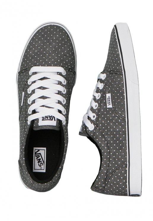 debbad78192 Vans - Kress Washed Dots Black White - Girl Shoes - Impericon.com US