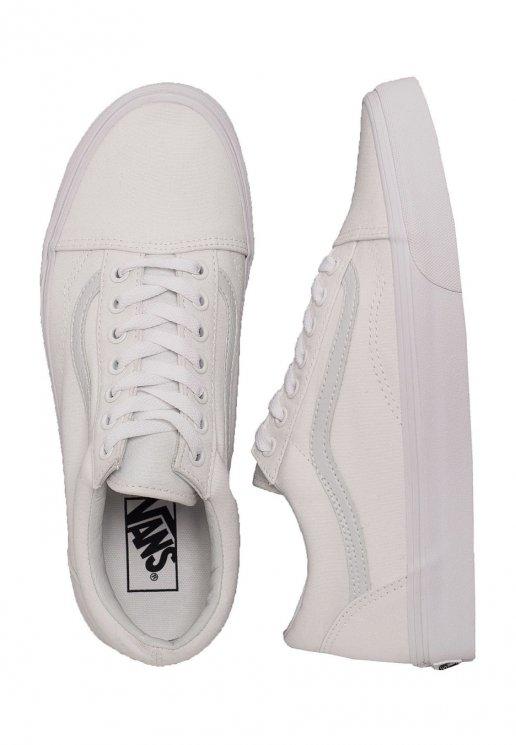 Vans Old Skool CanvasSynthetic True White Girl Shoes