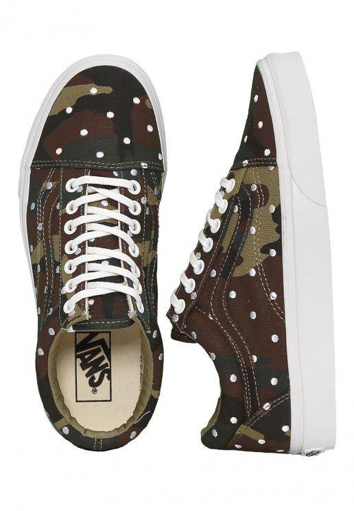 209feb3d7ffe29 Vans - Old Skool Camo Polka Dot Woodland True White - Girl Shoes -  Impericon.com UK