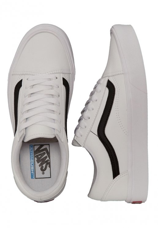 Vans Old Skool Lite (Classic Tumble) True White Black