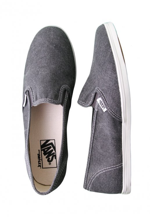 db714831d9e Vans - Slip-On Lo Pro Washed Black - Girl Shoes - Impericon.com US