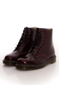 Dr. Martens - Vegan 1460 Cherry Red Oxford Rub Off Red - Girl Shoes