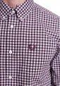 Fred Perry - Gingham Long Sleeve Mahogany - Shirt