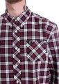Fred Perry - Three Colour Tartan Maroon - Shirt