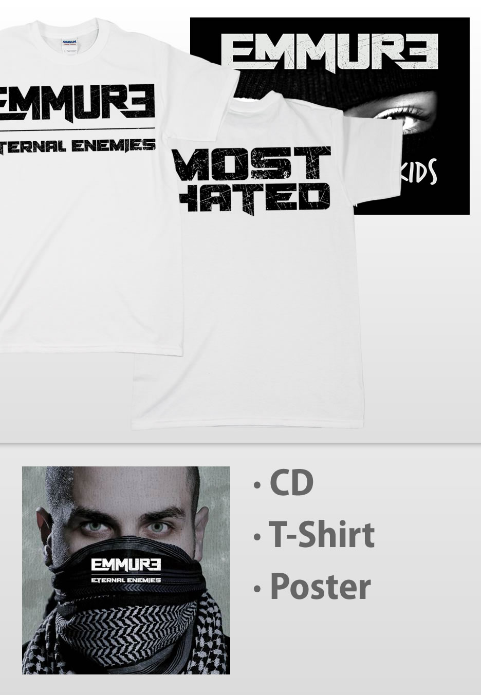 Emmure - Eternal Enemies White - T-Shirts