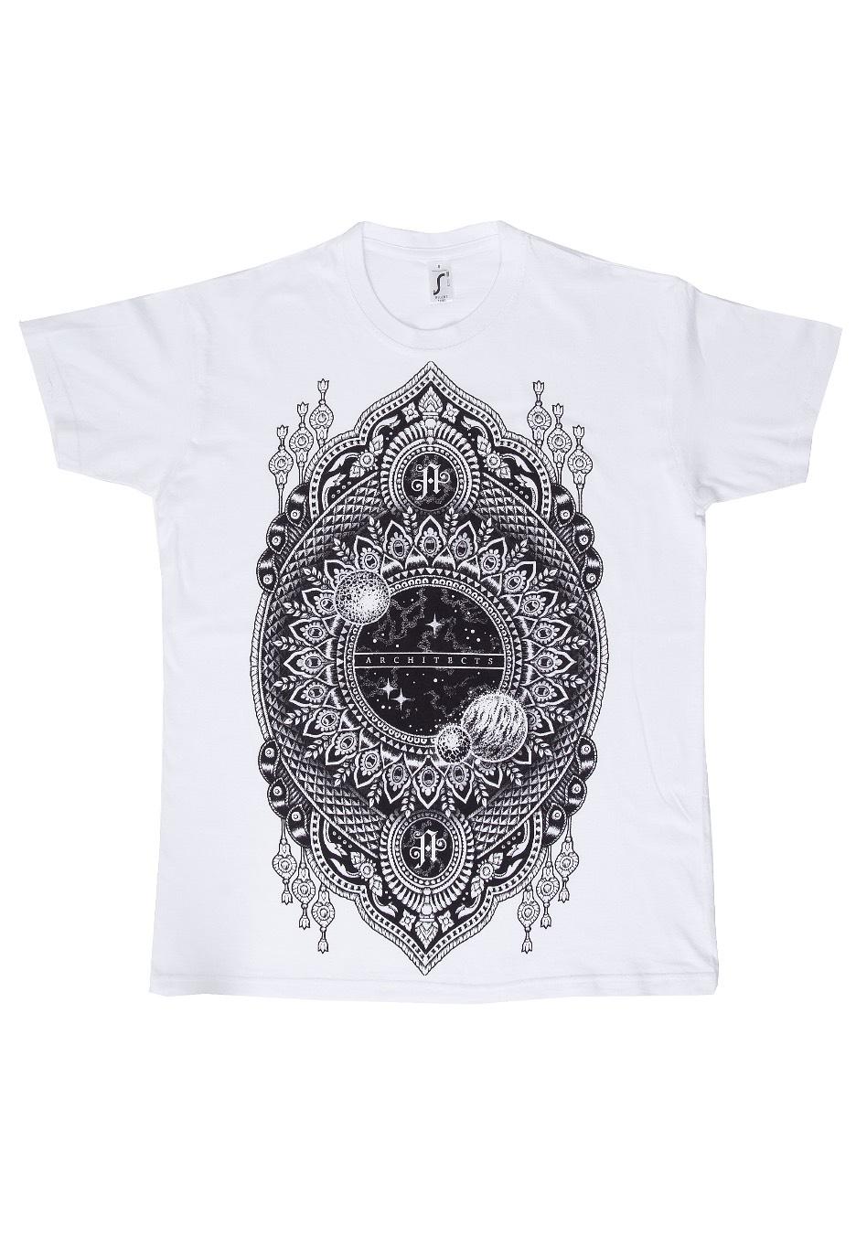 372cc254 Architects - Mandala Space White - T-Shirt - Official Mathcore Merchandise  Shop - Impericon.com US