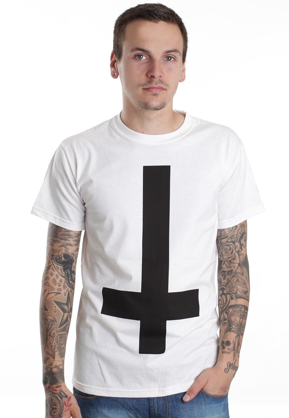 Black t shirt white cross - Abandon Ship Apparel Cross White T Shirt Streetwear Shop Impericon Com Worldwide