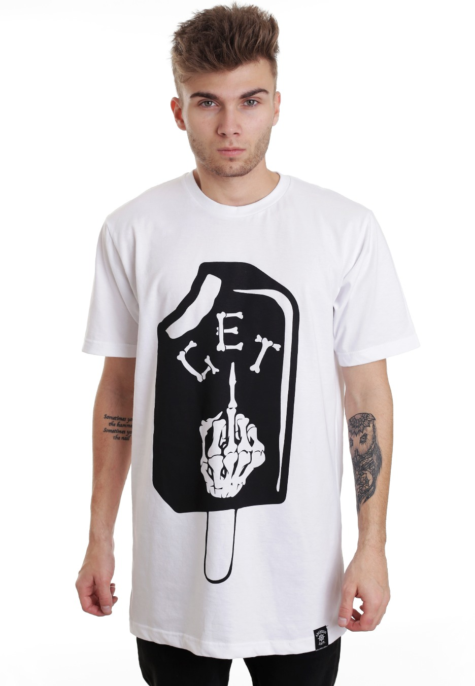abandon ship apparel get fucked white t shirt
