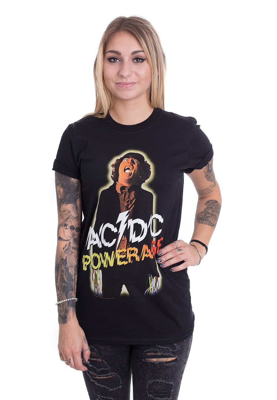 ac dc powerage t shirt official hard and heavy. Black Bedroom Furniture Sets. Home Design Ideas