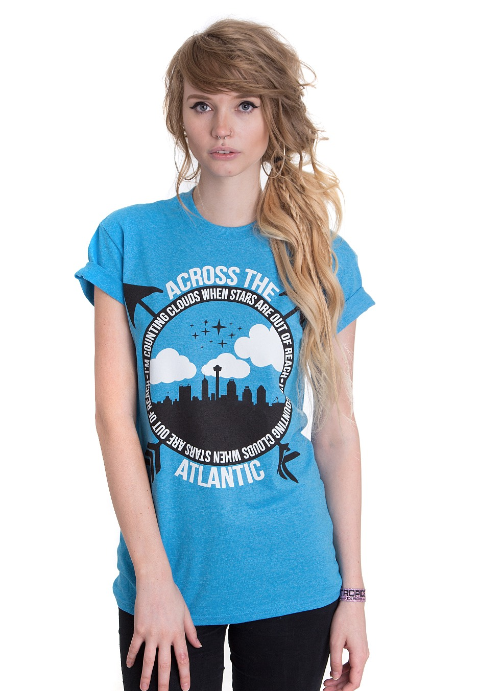Across the atlantic counting clouds heather sapphire t for La imprints t shirts