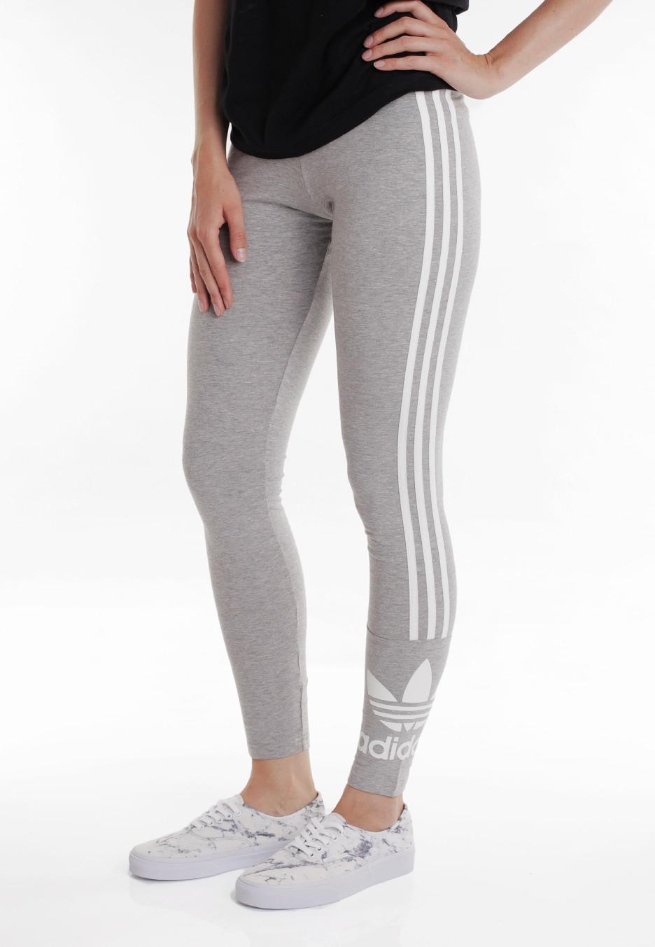 45a6d8992c8 Adidas - 3 Stripes Medium Grey Heather - Leggings - Streetwear Shop -  Impericon.com US